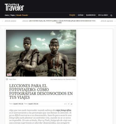 fotografiar un desconocido en traveller magazine
