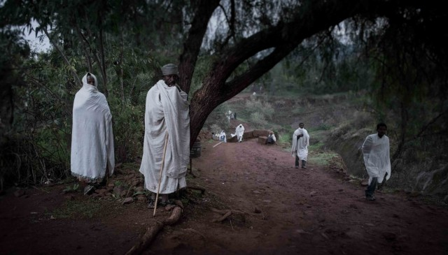 Pilgrims at Lalibela Ethiopia